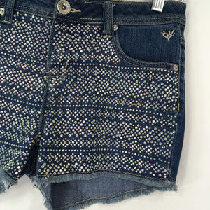 Justice Shorts - Justice 16R (Womens 28) Denim Jean Shorts Bling